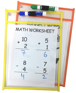 Reusable Sleeves Sheet Protectors For Classroom Dry Erase Pockets