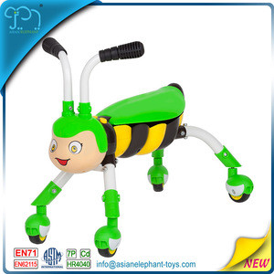 Ride On Animal Honey Bee Toys For Plastic Bee car With EN71