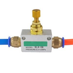 Silver Tone One-Way Restrictive Pneumatic Air Flow Speed Control Valve KLA thread 1/8 1/4 3/8 1/2 inch BSP Throttle valve