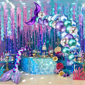 Table skirt for Mermaid party decoration