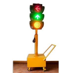 Topsafe Hot Sale LED Solar Mobile Traffic Lights solar traffic warning light four sides traffic light