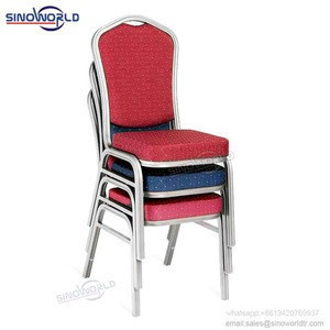 Wholesale Foshan metal stacking hotel dinning aluminium banquet chair