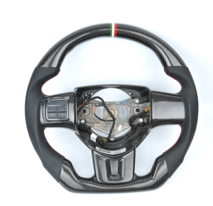 Wholesale price universal alcantara led available carbon fiber modified perforate leather car steering wheel for Fiat