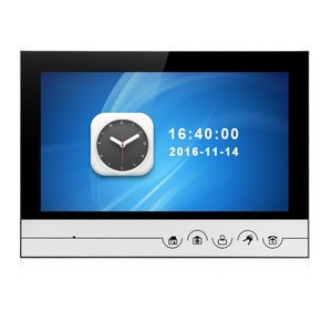 Wired intercom system intelligent audio video door phone with 9inch monitor