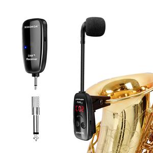 XIAOKOA Musical Instrument UHF Microphone Professional Multi Function Saxophone Wireless Microphone