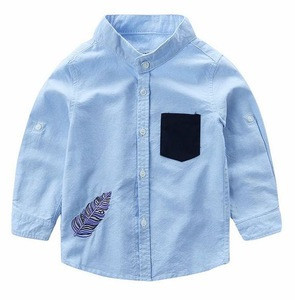 Z59710B New design cotton kids baby long sleeve shirts wholesale children's shirts