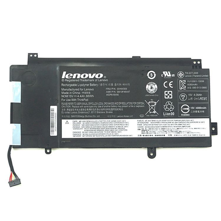 Lenovo ASM P/N SB10F46447 FRU P/N 00HW009 00HW009 batterie originale 15V 4400mAh