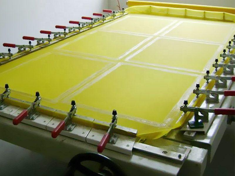 Yellow white high grade polyester screen printing mesh