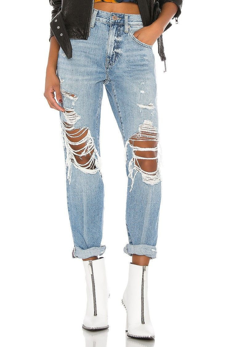 Damage Denim Jeans
