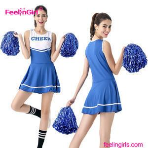 2017 Summer high school custom cheerleading uniforms dress designs