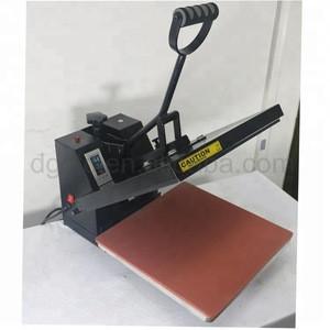 38x38cm Flat Clamshell Textile Embossing Machine, Heat Printing Machine