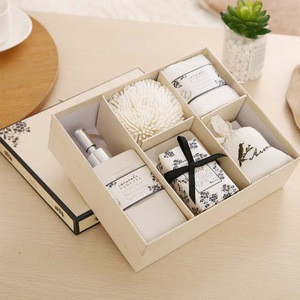 4 pack Bath and Body Gift Set with Perfect Gift Box for Women