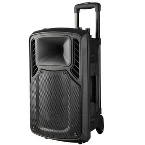 China manufacturer bluetooth new wholesale portable karaoke speaker sound system with trolley and wheels