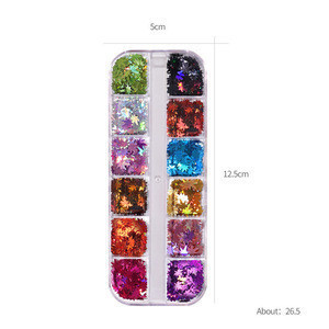 DIY Autumn maple leaf Nail art Sequin Decoration Kit,Nail Beauty Sticker Decal Set,Nail Glitter