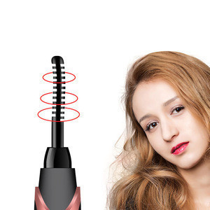 Electric Eye Curlers Black Eyelash Curlers Mini USB Eye Lash Curling Clip Magic Curlers