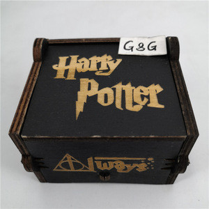 Factory New Design  Black Wind Up Music Box Harry Potter
