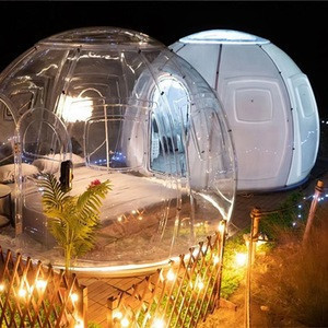 Factory Price 3m/5m Geodesic Dome Tent Clear Hotel Tent Igloo Coffee Garden Dome