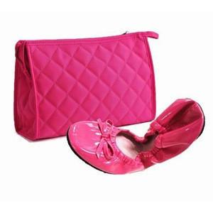 Fashion ladies flat dancing dance shoes with shoebags set