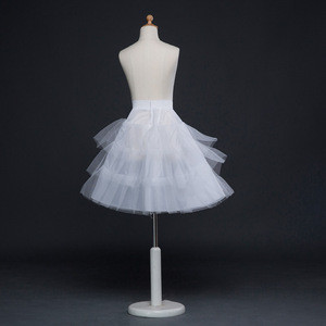 Fashion Soft Teenage Girl Women lolita Skirt Extra Fluffy Ivory Ladies Tulle Petticoat
