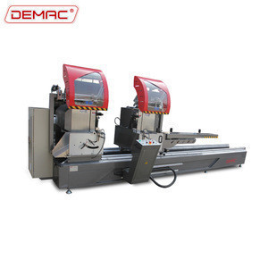 High precision double miter saw aluminum doors window making equipment