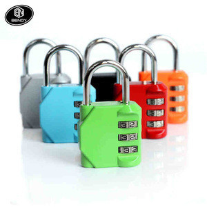 Hot Sale new cheap wholesale reset 3 digital Zinc Alloy travel combination luggage pad lock