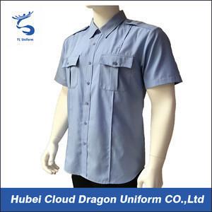 Male poplin short sleeve work shirt tailor security guard uniforms