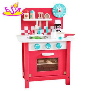 New design children play kitchen set wooden pretend play toys for kids W10C285