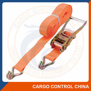 Polyester ratchet lashing cargo tie down webbing strap