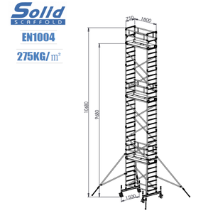 RS9.68 11 meters single width aluminum material scaffold sweden