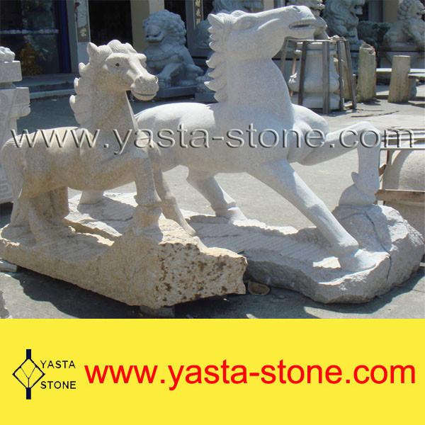 Stone horse garden statues/stone horse head