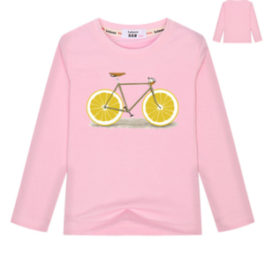 T Shirt Kids Long Sleeve Fashion Lemon Biker Team T Shirt 100% Cotton Boys Girls Tops 2018 Spring New