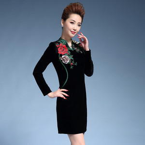 Traditional Authentic Chinese Zipper Women'S Dress Clothing