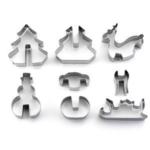 Wholesale stainless steel christmas cookie cutter set