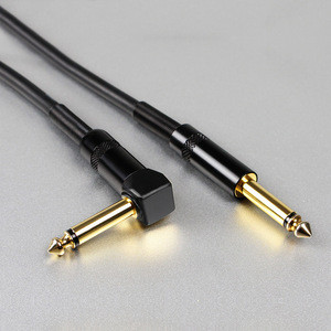 Wholesaler Straight 22AWG 6.35mm 1/4 Inch instrument cable guitar for Electric Guitar/Keyboard