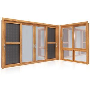 Wood grain sliding aluminium windows and doors cheap bedroom anodized double glass aluminium sliding window system