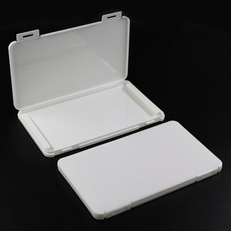 Face Shield Box Portable Rectangle Dustproof Cotton Mask Storage Container Plastic Seal Box Mask Washable Case