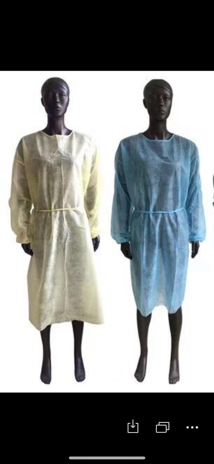 Isolation gowns with FDA approved