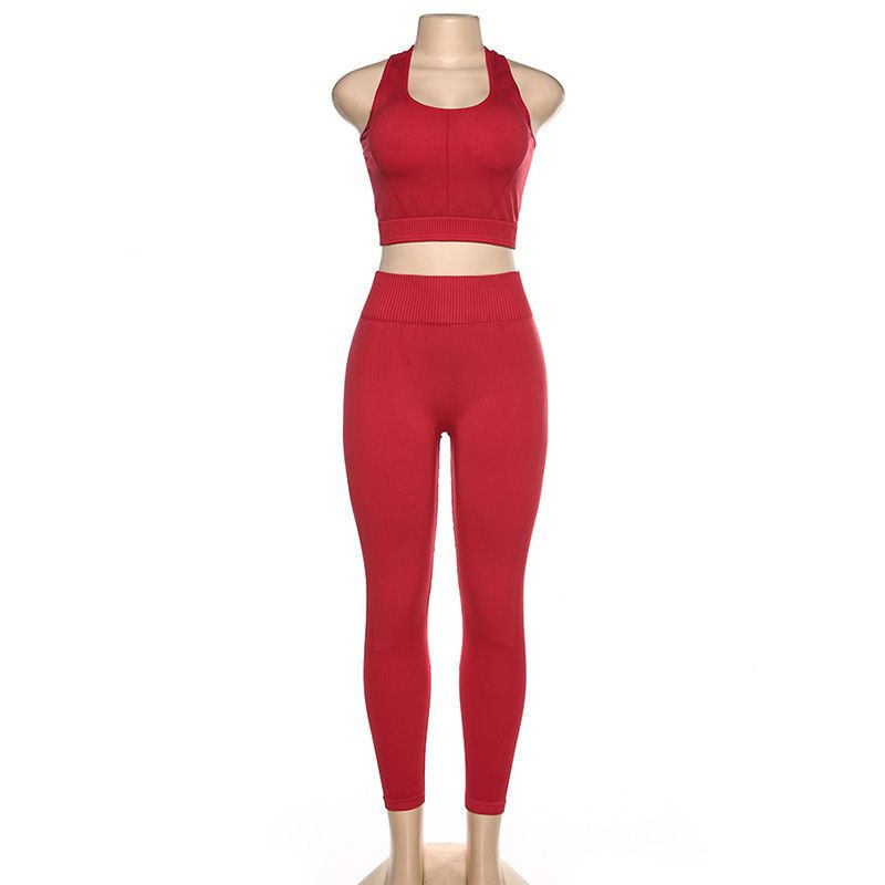 Import Yoga Wear, High Waist Compression Workout Wear, two piece Gym Suit from Pakistan