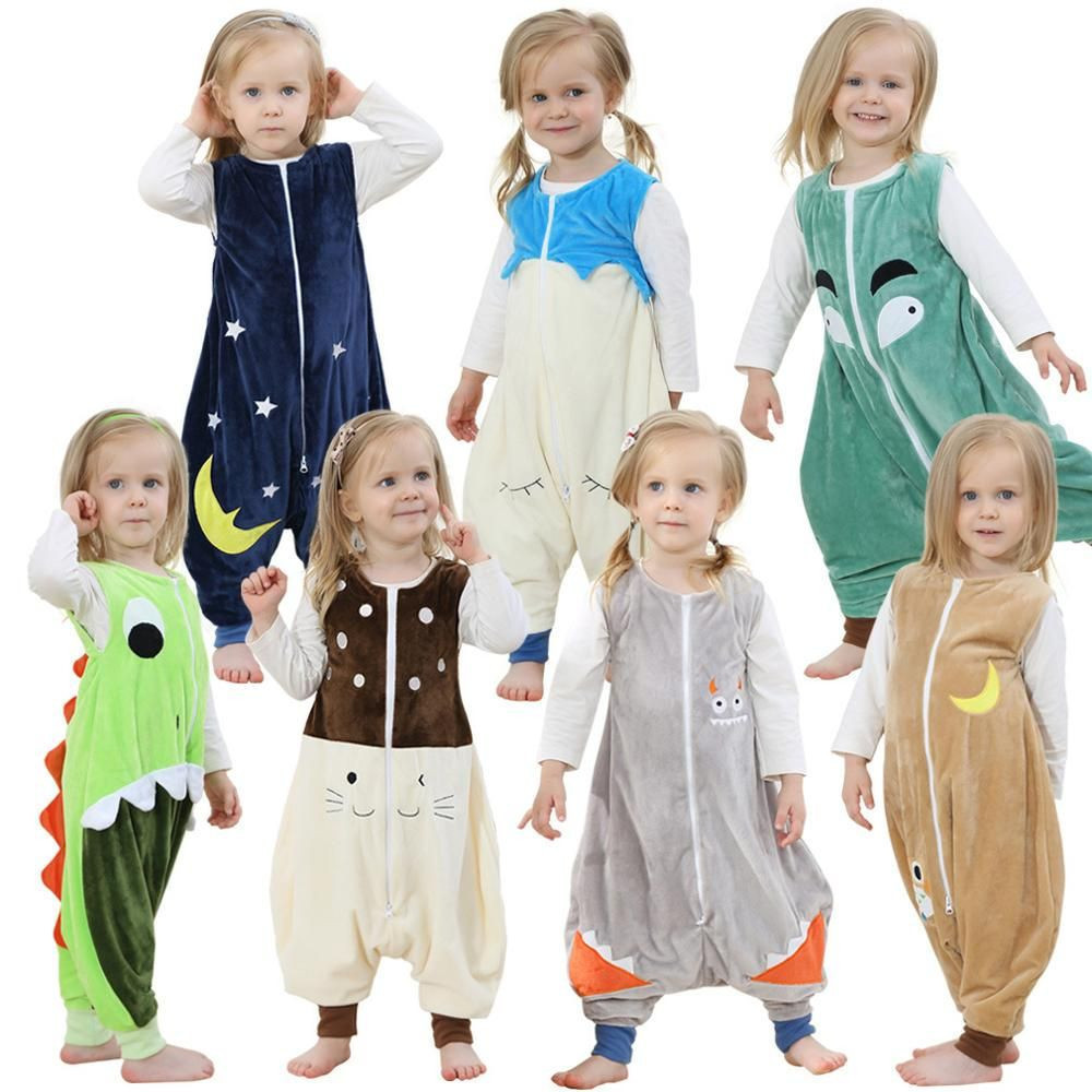 Kids Feet pajamas Flannel Robe Warm Sleepwear Children Overalls Prevent Halloween Christmas Baby Blanket Sleepers Animal Rompers