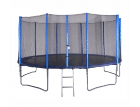 15F,16FT trampoline with encl & ladder
