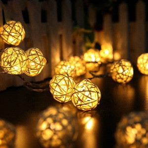 1.2M 10 LED Rattan Ball string lights garland led lights decoration christmas decorations for home decor new Year