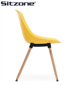 2018 Library Furniture Wood Leg PP Chair