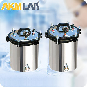 AKMLAB 8/12/18/24L Portable Steam Sterilizer Autoclave Sterilization
