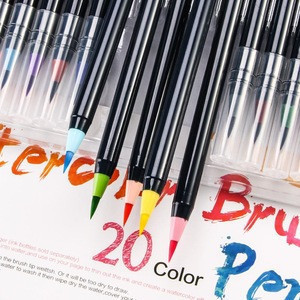 Best Effect  20 Color Watercolor Soft Brush Pen Set Drawing Painting Art Marker Pen for Sketch Manga Calligraphy