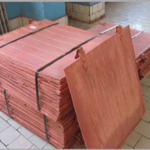 Best Quality Electrolytic Copper Cathode Length 100cm +/- 5cm, Width 101cm +/- 5cm