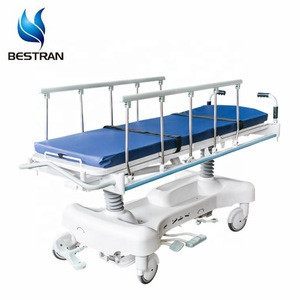 BT-TR006 Hospital Medical Hydraulic Rise And Fall Emergency Transport Trolley Transfer Gurney Weight System X ray board price
