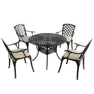 Cast Aluminum Black Color Outdoor Garden Furniture Set