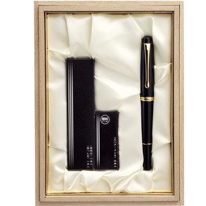 Classical Luxury Fountain Brush Pen With 3 Pcs Spare Black Ink Ideal For Gift