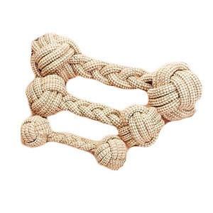 Dog Cotton Hemp Rope Knot Toys Molar Pet Toys