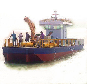Engineering Tug Boat Crane Boat with 5t Capacity crane for sale